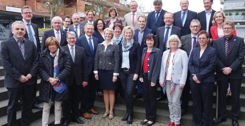 Gespräch mit Bürgermeistern und allen Abgeordneten des Kreises Steinfurt in Emsdetten