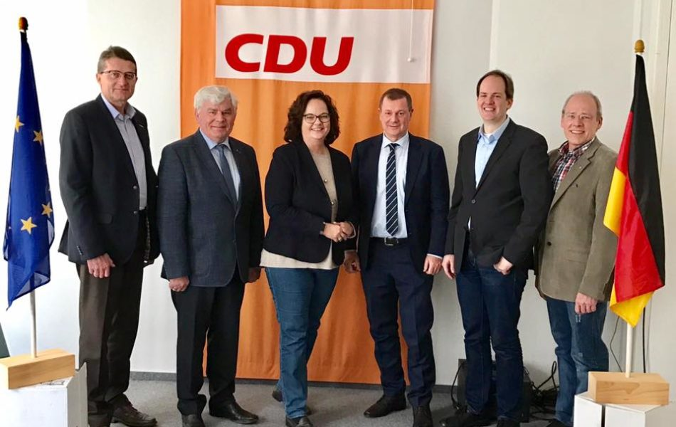 Gespräch mit dem münsterländischen Europaabgeordneten Dr. Markus Pieper und der CDU Rheine über die Folgen des Brexit