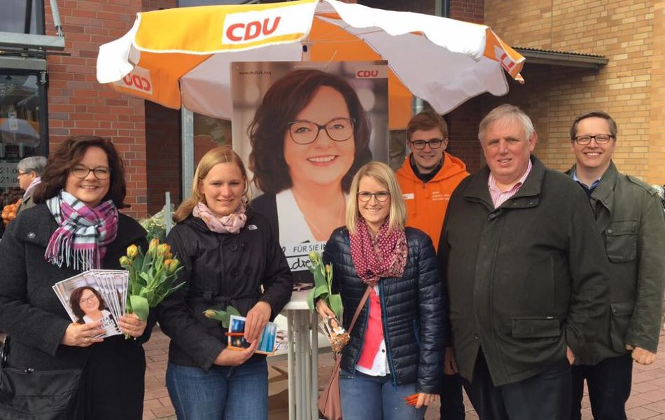 Infostand zur Landtagswahl in Riesenbeck