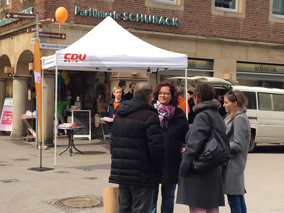 Infostand zur Landtagswahl in Rheine