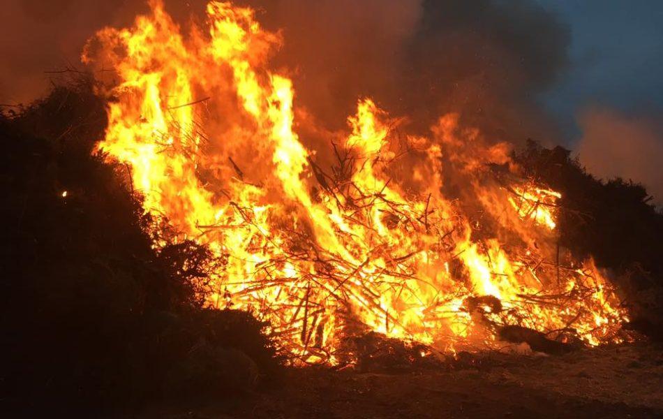 Osterfeuer in Hörstel am Schultenort
