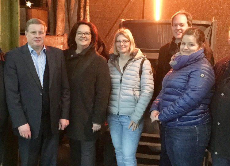 CDU-Landtagskandidatin Andrea Stullich besucht Eisengießerei Reckers