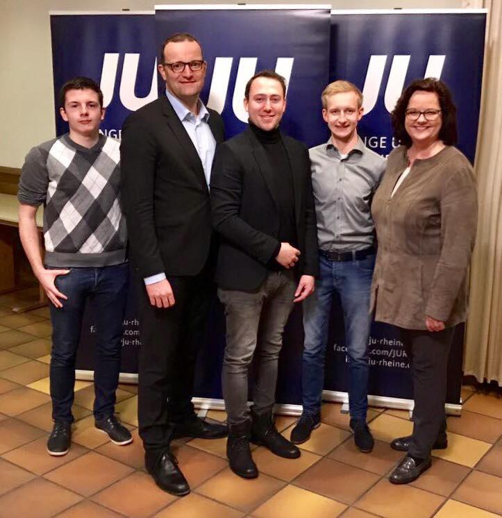 Wahlkampf-Unterstützung von Jens Spahn bei der JU Rheine