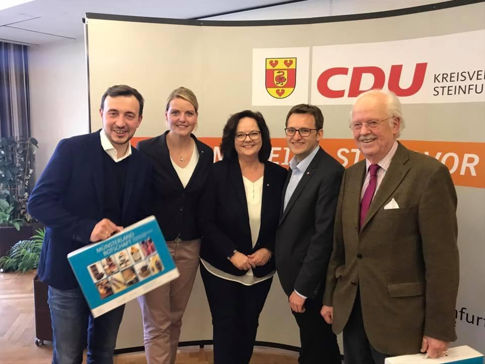 Die Bundesvorsitzenden von Seniorenunion und Junger Union, Prof. Otto Wulff und Paul Ziemiak, gemeinsam zu Gast in Saerbeck.