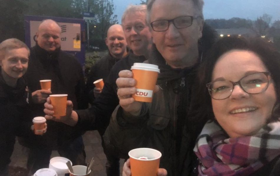 Kaffeestand am Bahnhof Hörstel