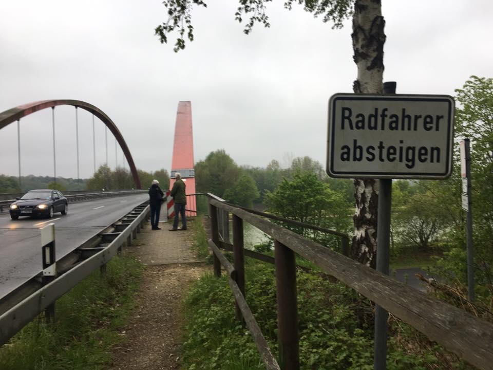 Ortstermin an der Kanalbrücke in Gravenhorst