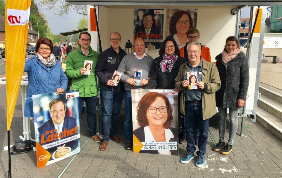 Infostand der CDU Emsdetten am Bahnhof