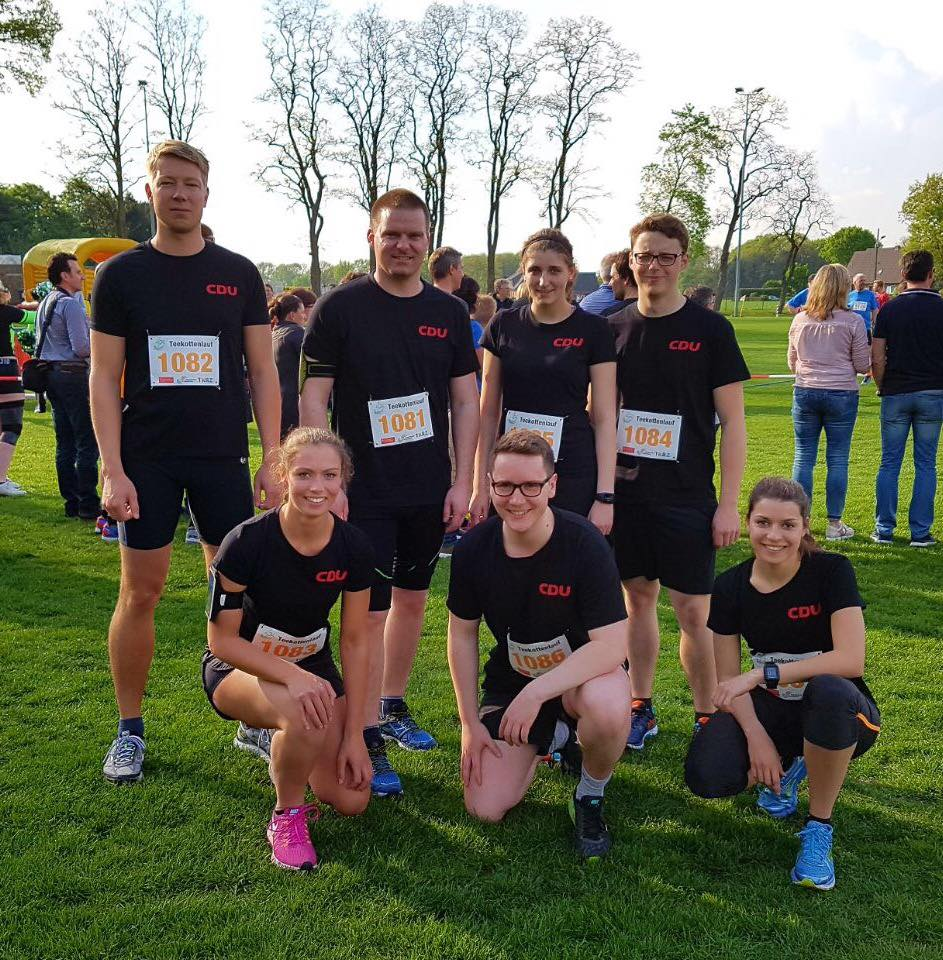 Besuch beim Team der CDU Emsdetten beim 10-km-Teekottenlauf