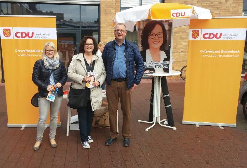Infostand der CDU Riesenbeck