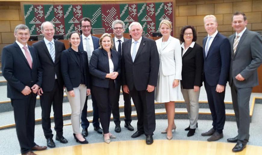 Die Münsterlandrunde nach Ernennung der neuen Minister