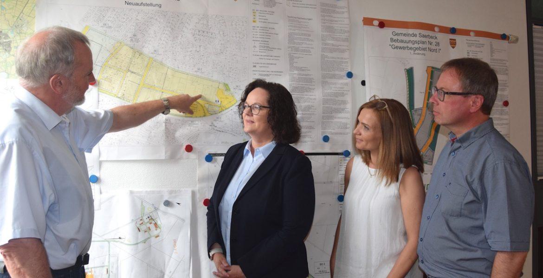 Antrittsbesuch bei Bürgermeister Roos in Saerbeck