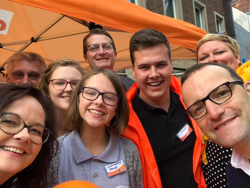 Infostand zur Bundestagswahl mit Jens Spahn MdB in Rheine