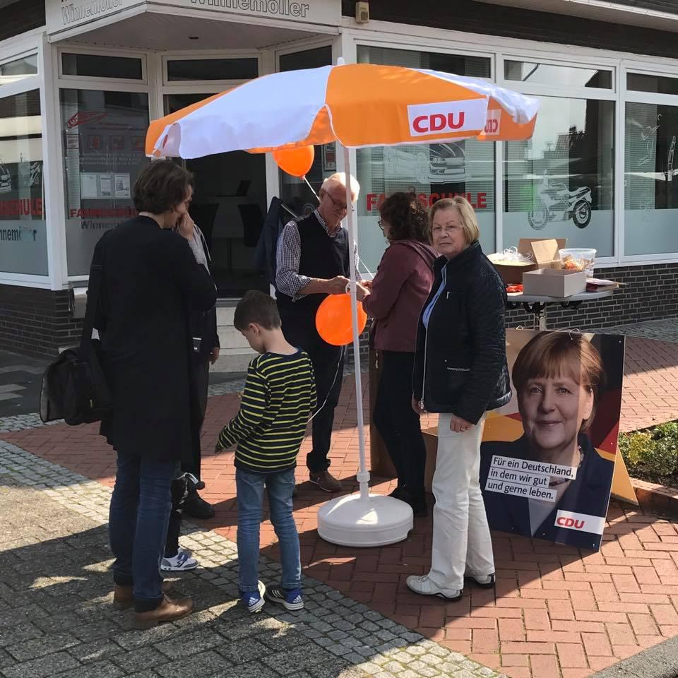 Infostand der CDU Mesum zur Bundestagswahl