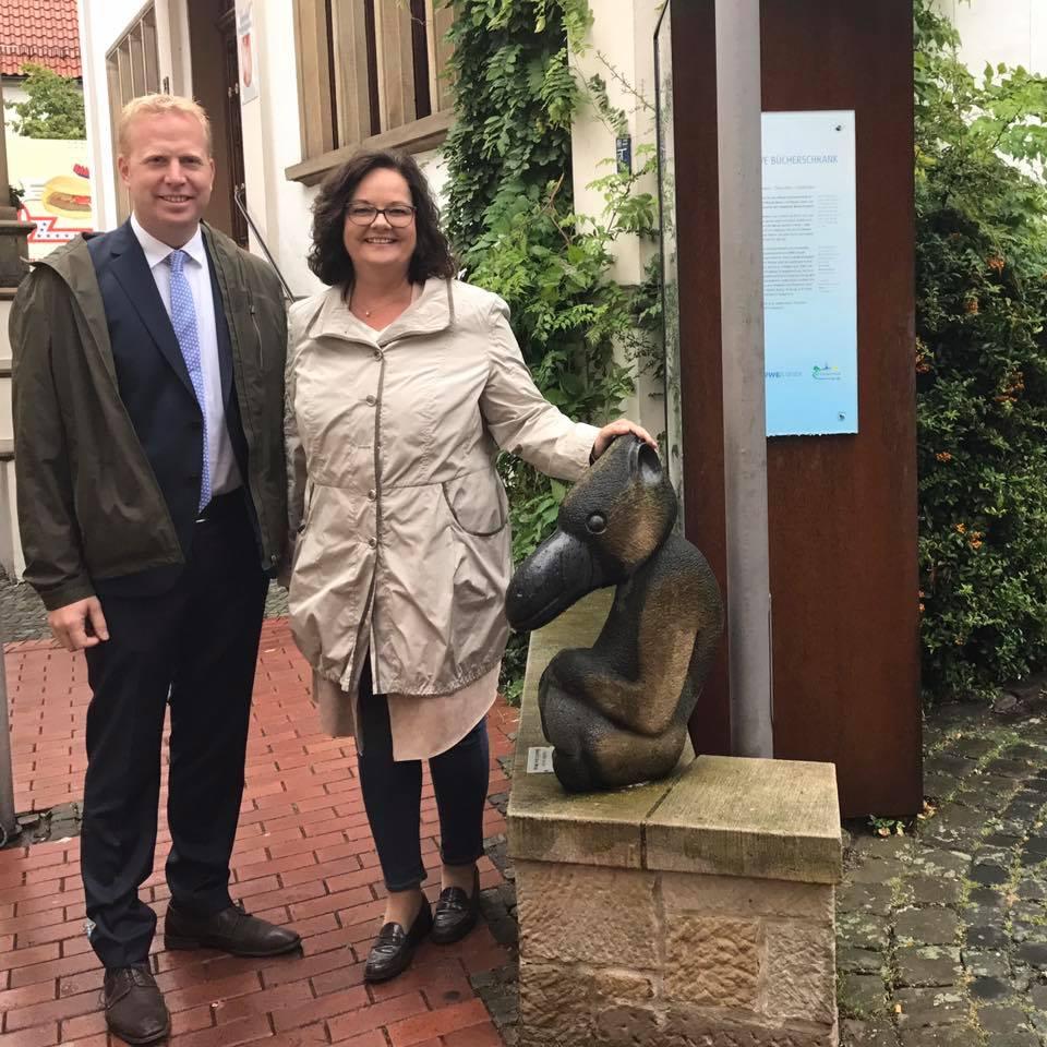 Ortstermin mit meinem Münsterland-Kollegen Henning Rehbaum in Westerkappeln-Velpe
