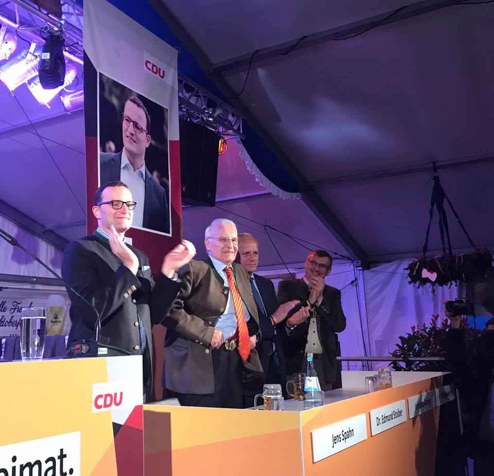 Politisches Oktoberfest mit Dr. Edmund Stoiber und Parl. Staatssekretär Jens Spahn in Ahaus