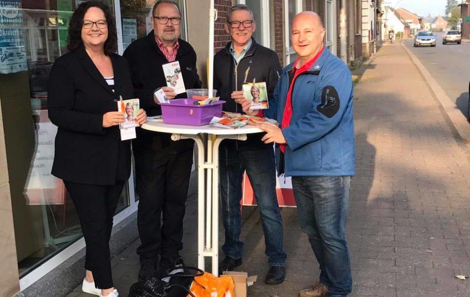 Infostand der CDU Bevergern zur Bundestagswahl