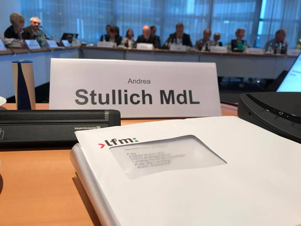 Sitzung der Medienkommission bei der Landesmedienanstalt