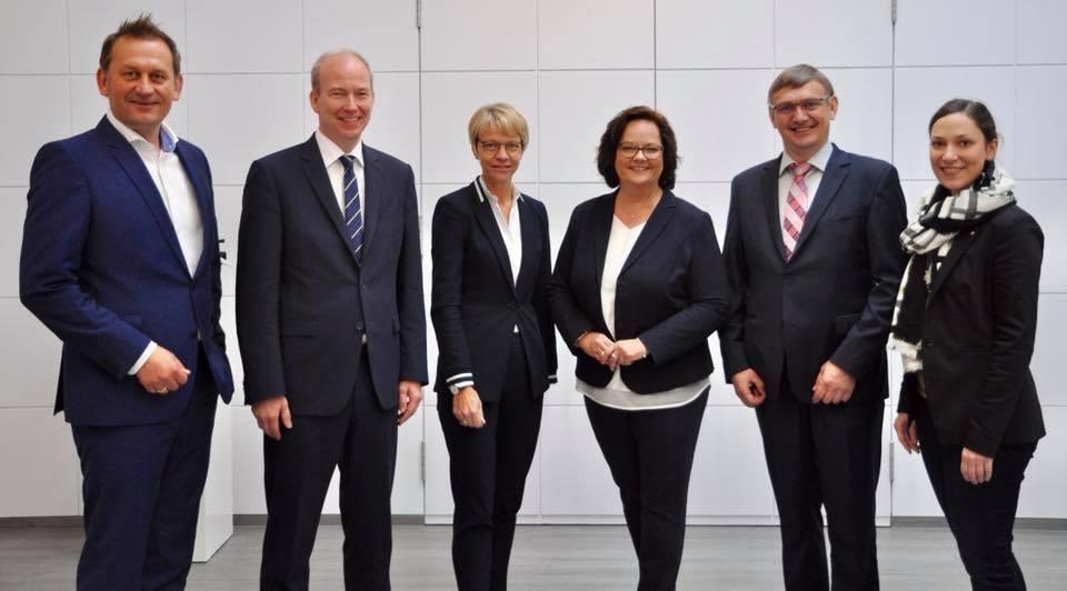 Zu Gast bei unseren neuen Regierungspräsidentin Dorothee Feller in Münster