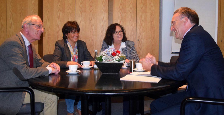 Antrittsbesuch bei Bürgermeister Moenikes in Emsdetten