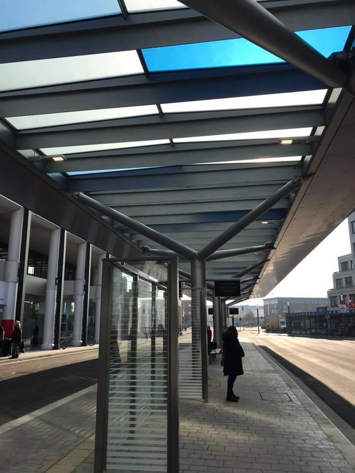 Eröffnung des neuen Bus-Bahnhofs Rheine, 20 Jahre Stadt-Bus und 40 Jahre Rathaus-Einkaufspassage.