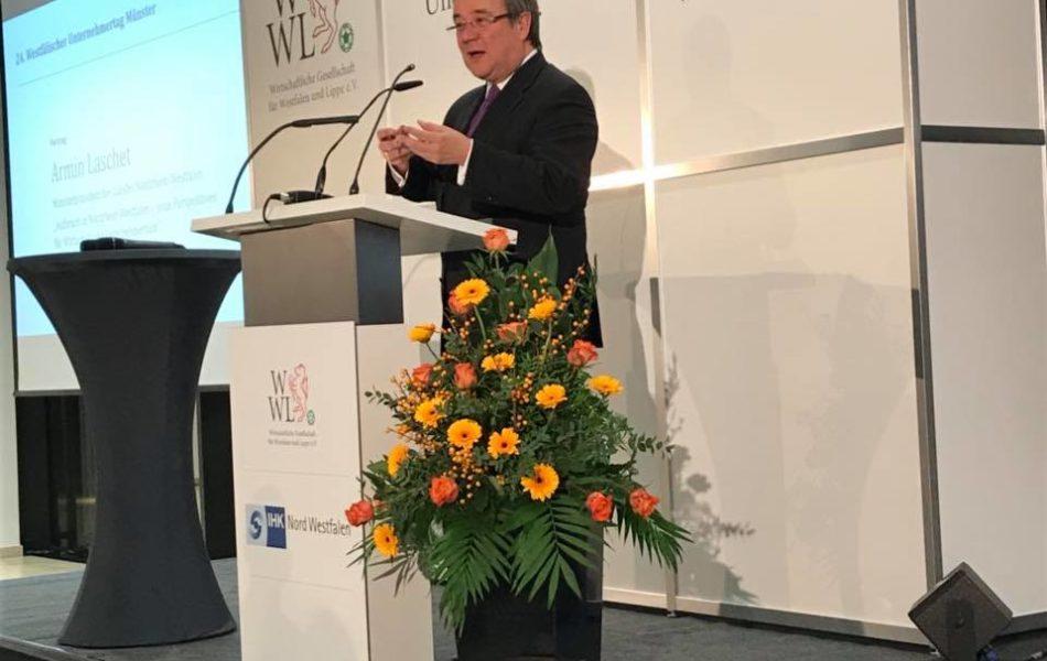 Ministerpräsident Armin Laschet beim Westfälischen Unternehmertag in Münster