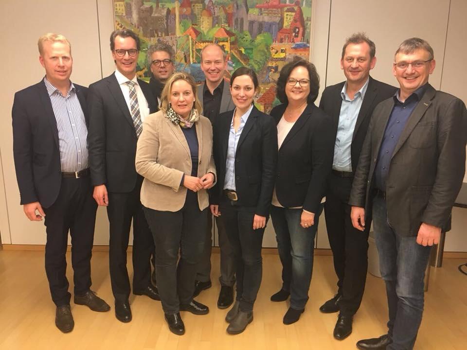Gespräch der CDU-Münsterlandrunde mit Verkehrsminister Hendrik Wüst