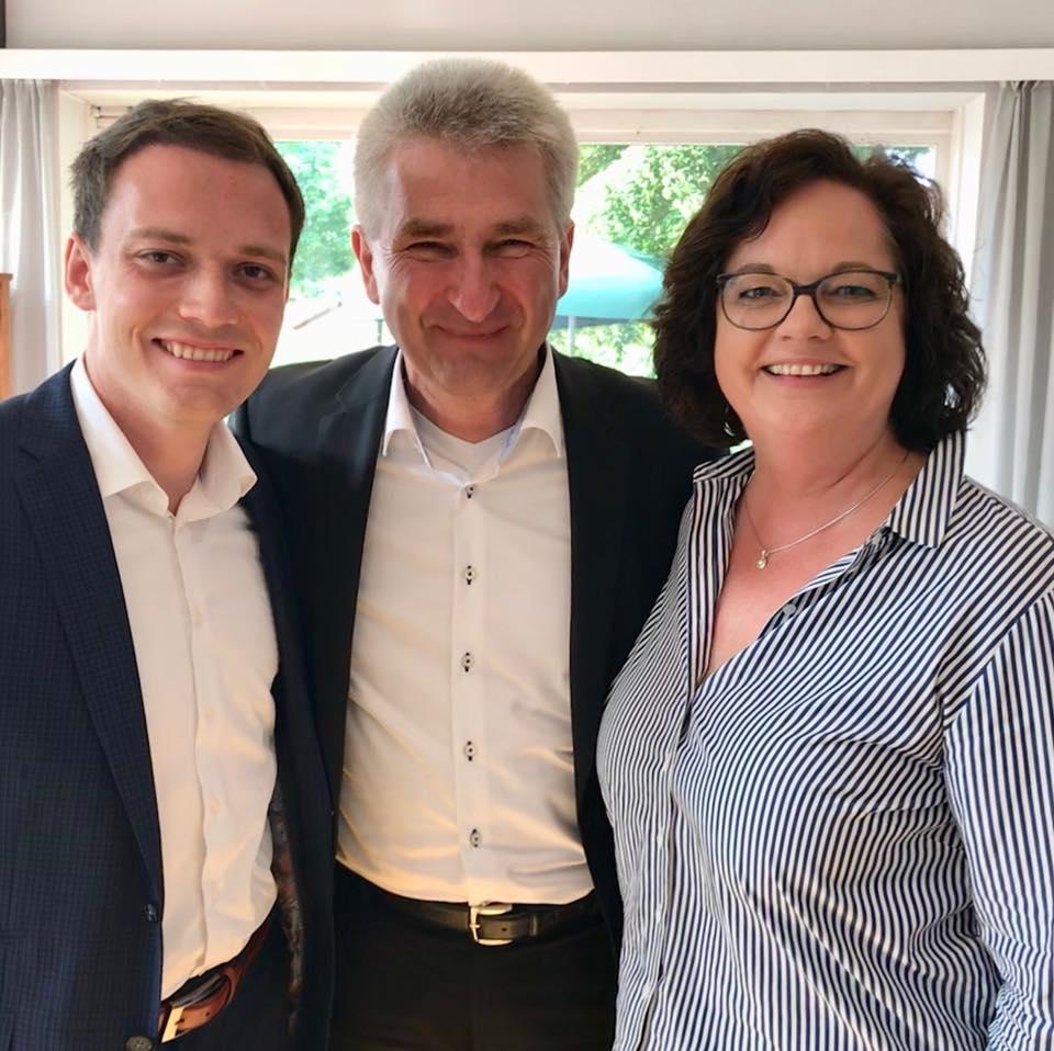 Frühstücks-Gespräch von NRW-Wirtschaftsminister Andreas Pinkwart mit den Bürgermeisterinnen und Bürgermeistern Ibbenbüren,Recke, Mettingen, Westerkappeln, Hopsten und Hörstel