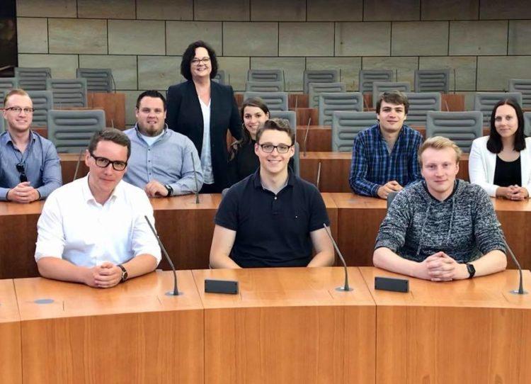 Besuch der Jungen Union Emsdetten im Düsseldorfer Landtag