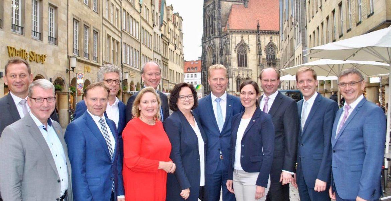 Gespräch der CDU-Landtagsabgeordneten aus dem Münsterland mit den Landräten der Münsterlandkreise Steinfurt, Coesfeld, Warendorf und Borken