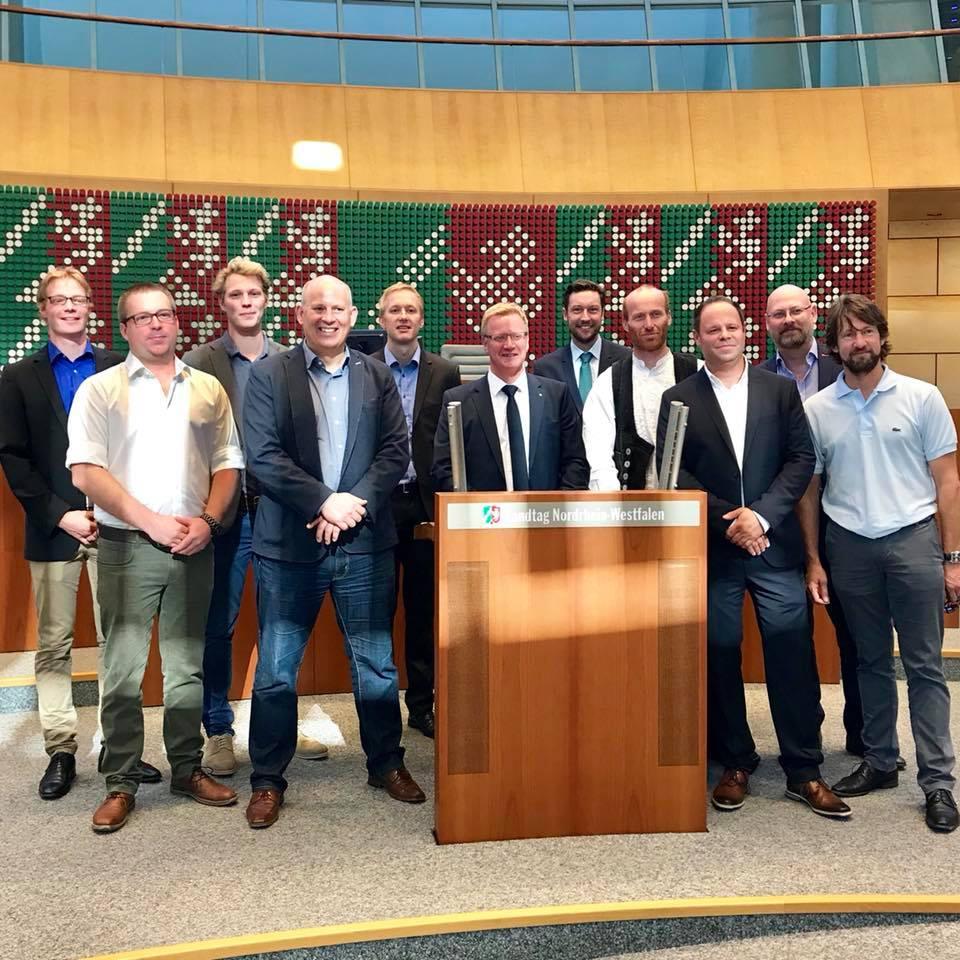 Politik meets Praxis – beim zweitägigen Besuch von Handwerksmeistern aus dem Münsterland in Düsseldorf