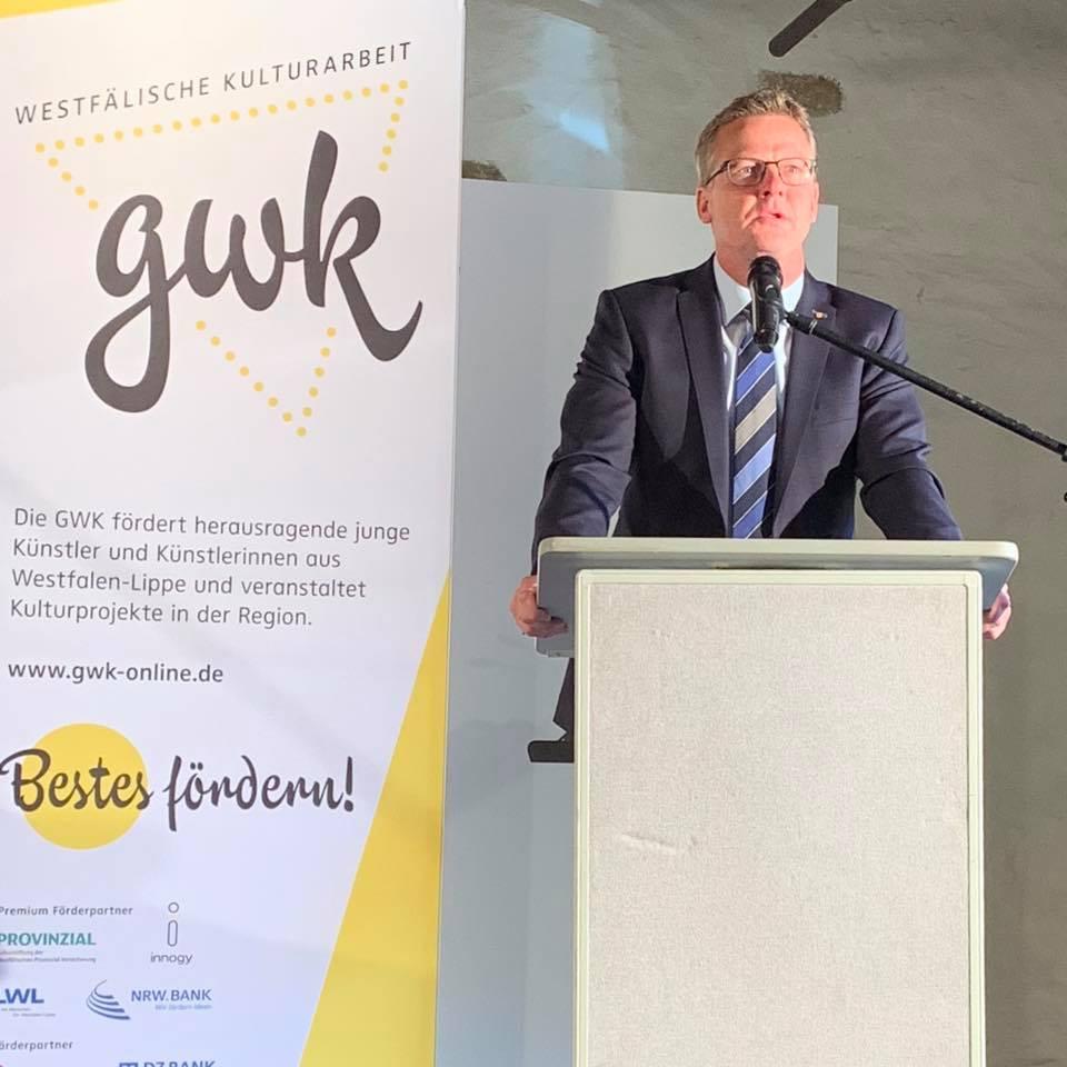 Verleihung der diesjährigen GWK-Förderpreise für Kunst, Musik und Literatur im Kloster Bentlage in Rheine