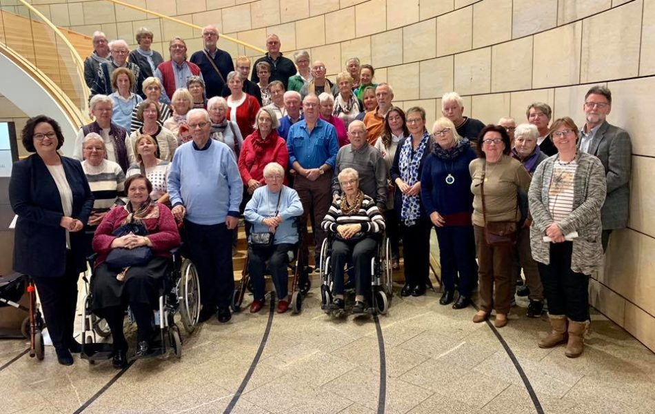 Mitglieder des VdK-Kreisverbandes Steinfurt zu Besuch im Landtag