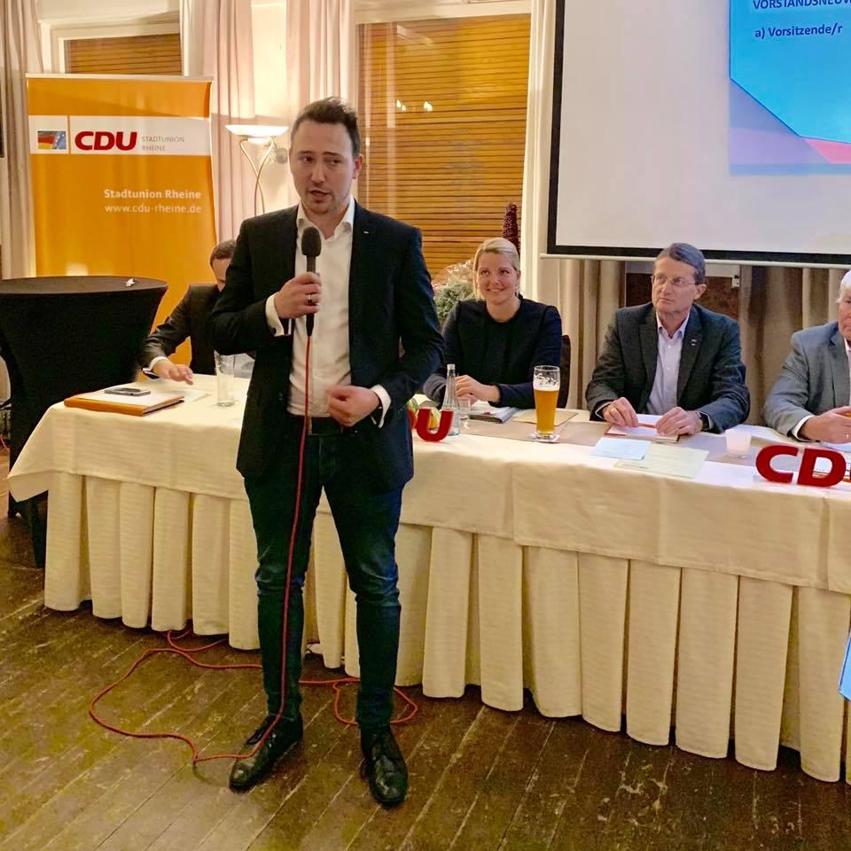 Mitgliederversammlung der CDU Rheine mit Vorstandswahlen