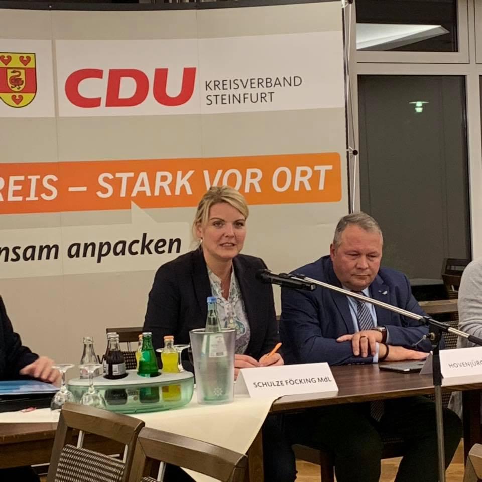 Ortsvorsitzendenkonferenz des CDU-Kreisverbandes Steinfurt mit CDU-NRW-Generalsekretär Josef Hovenjürgen MdL