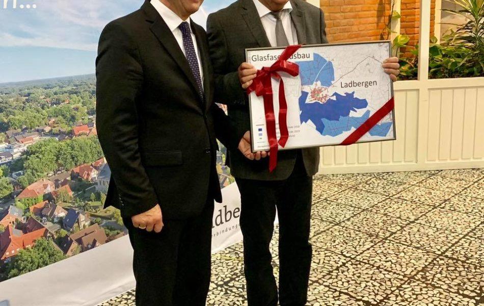 Besuch von NRW-Wirtschaftsminister Andreas Pinkwart in Ladbergen