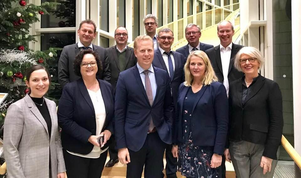 Arbeitsgespräch der Wirtschaftsförderer aus dem Münsterland mit den CDU-Abgeordneten aus dem Münsterland im NRW-Landtag