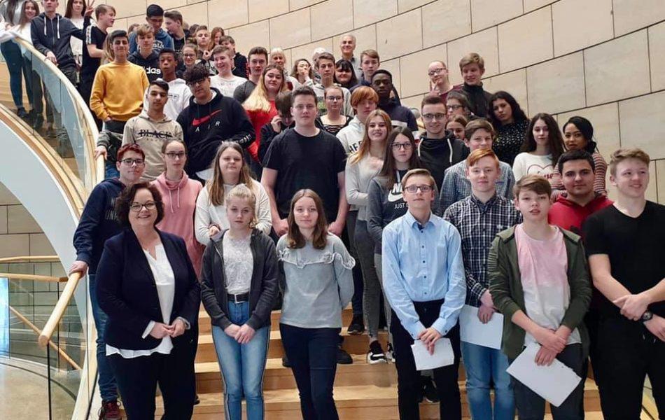Besuch von Schülerinnen und Schülern der Alexander-von-Humboldt-Schule aus Rheine-Mesum