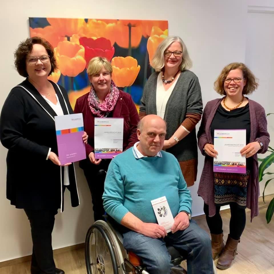 Besuch des Anni-Poll-Hauses in Mesum mit Claudia Middendorf, Beauftragte der Landesregierung für Menschen mit Behinderung sowie für Patientinnen und Patienten