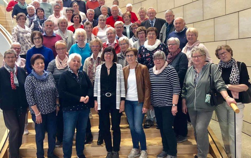 Besuchergruppe der KAB Mesum, Elte und Hauenhorst zu Gast im Düsseldorfer Landtag