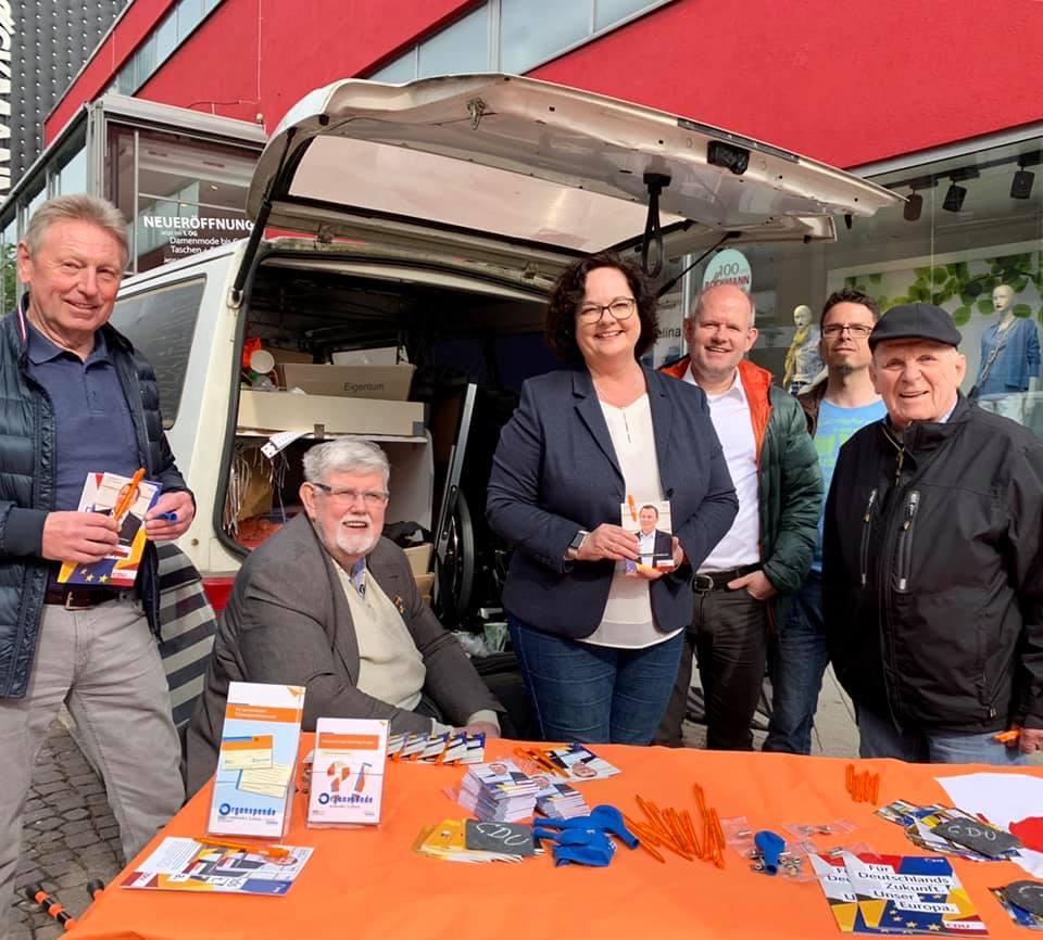 Wahlkampf auf der Emsstraße mit der CDU Rheine