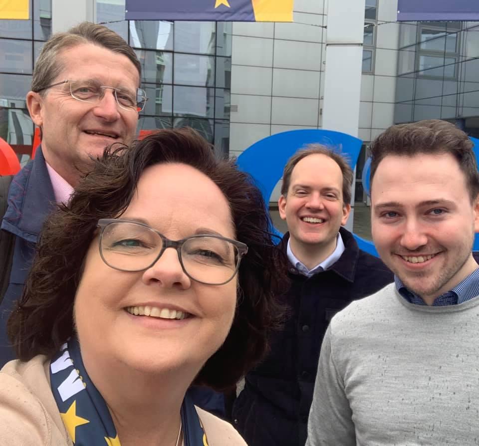 Auftakt Europawahlkampf von CDU und CSU in der Halle Münsterland
