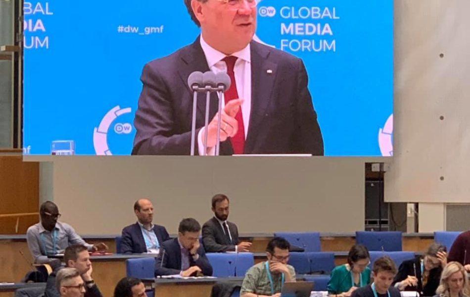 Ministerpräsident Armin Laschet beim GlobalMediaForum in Bonn