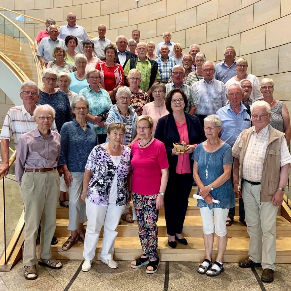 Besuchergruppe Heimatverein Riesenbeck zu Gast im Landtag
