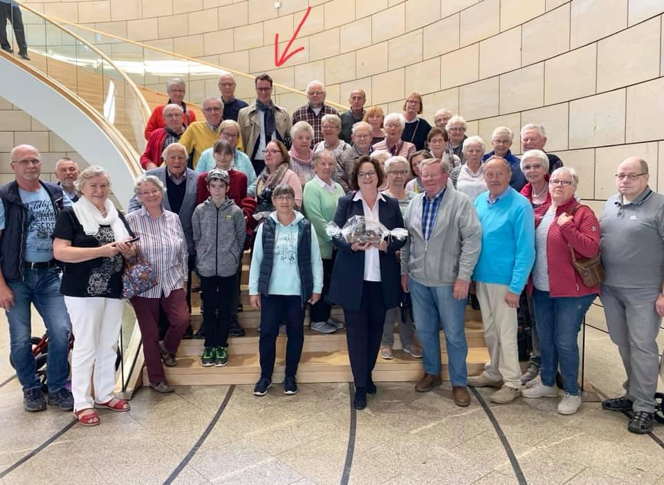Besuchergruppe des Heimatvereins Ibbenbüren zu Gast im Landtag