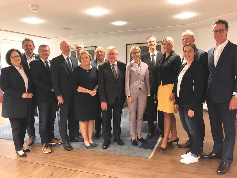 Gespräch der münsterländischen Abgeordneten mit Regierungspräsidentin Dorothee Feller