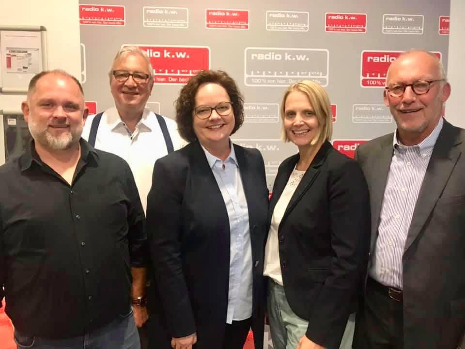 Gespräch über die Weiterentwicklung des Lokalfunks in NRW