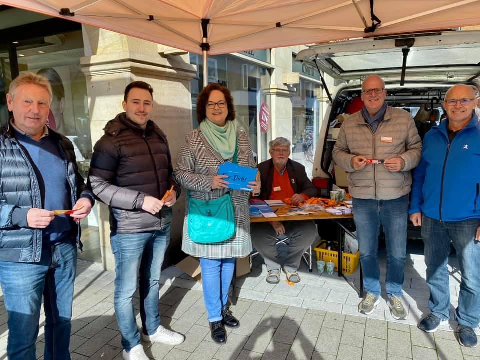 Info-Stand der CDU Rheine in der Emsstraße