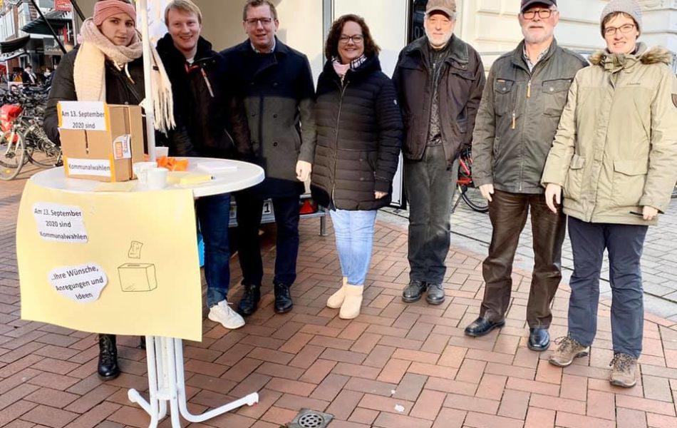 CDU-Infostand in Emsdetten