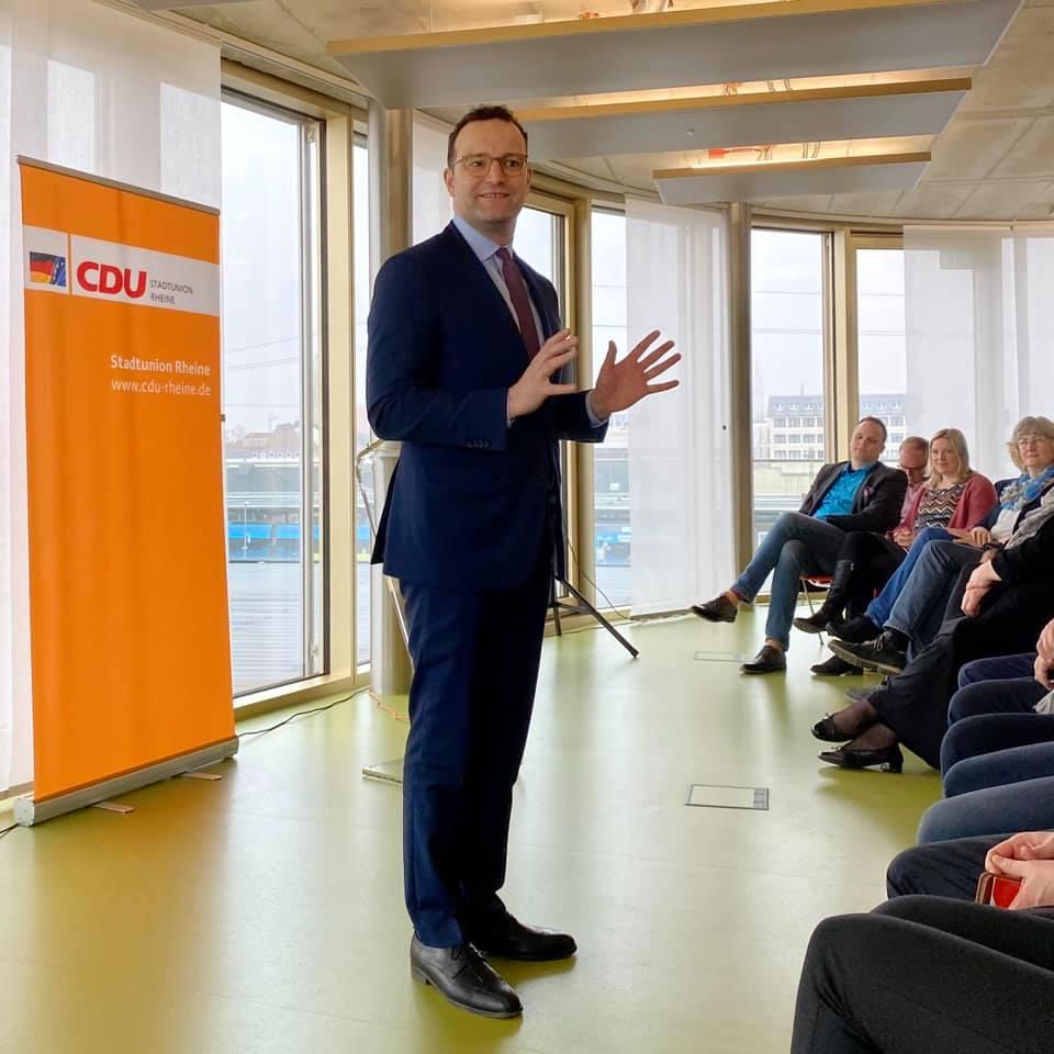 Bundesgesundheitsminister Jens Spahn beim Neujahrsempfang der CDU Rheine