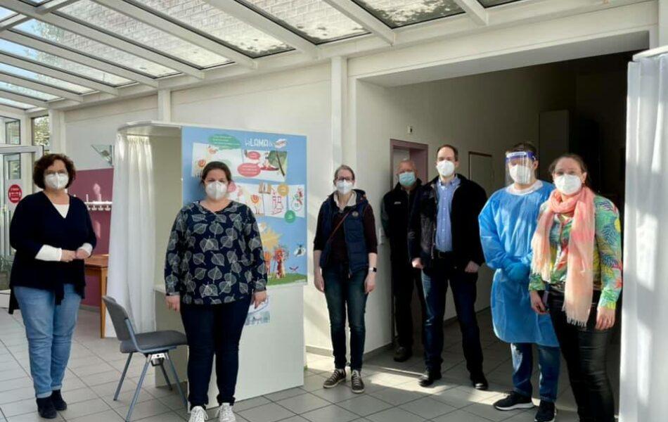 Corona-Testzentrum im Pfarrheim Mesum besucht